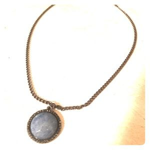 Blue Marbled Stone Necklace